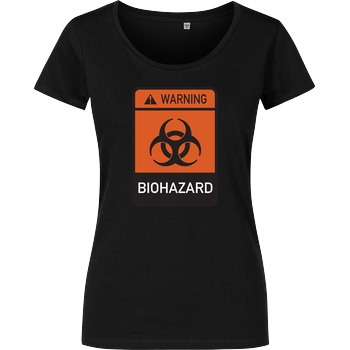 None Biohazard T-Shirt Girlshirt schwarz