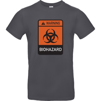 None Biohazard T-Shirt B&C EXACT 190 - Dark Grey