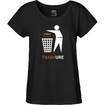 None Trashure T-Shirt Fairtrade Loose Fit Girlie