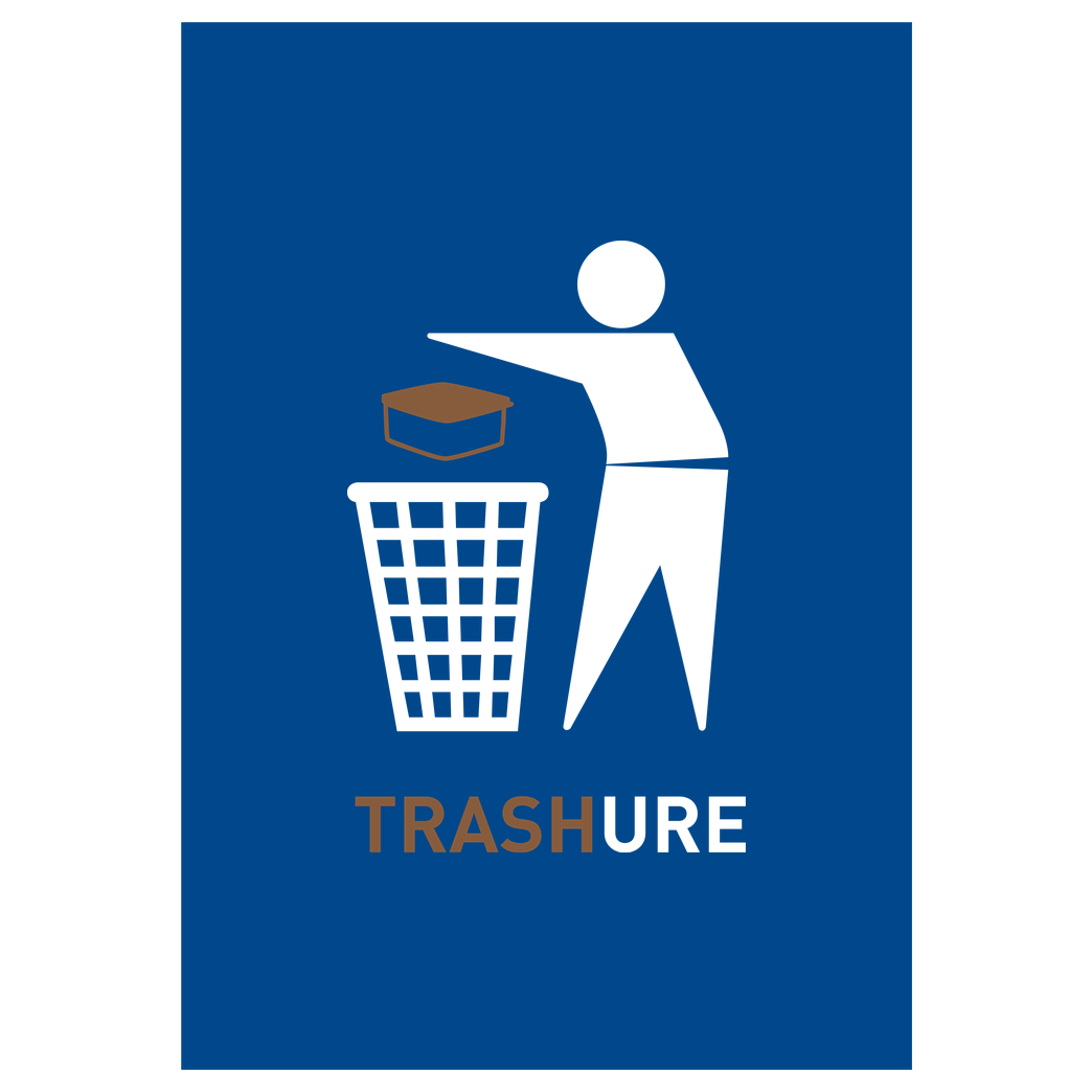 None Trashure Druck Art Print blue