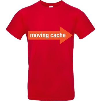 None Moving Cache (man) T-Shirt B&C EXACT 190 - Red