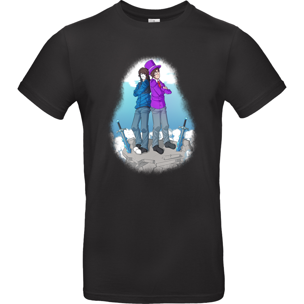 GermanLetsPlay GermanLetsPlay -  #ZomGer T-Shirt B&C EXACT 190 - Black