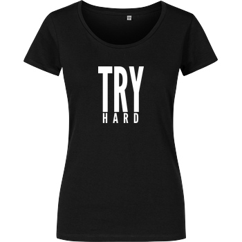 MarcelScorpion MarcelScorpion - Try Hard weiß T-Shirt Girlshirt schwarz