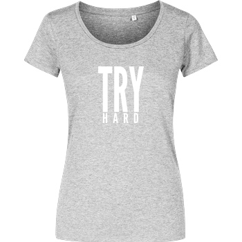 MarcelScorpion MarcelScorpion - Try Hard weiß T-Shirt Damenshirt heather grey