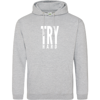 MarcelScorpion - Try Hard weiß JH Hoodie - Heather Grey