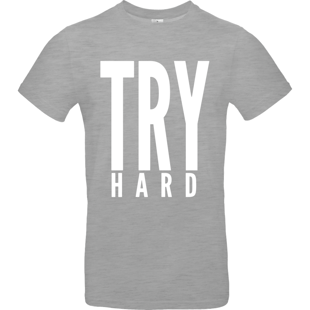 MarcelScorpion MarcelScorpion - Try Hard weiß T-Shirt B&C EXACT 190 - heather grey