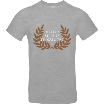 None Digitus medius te salutat T-Shirt B&C EXACT 190 - heather grey