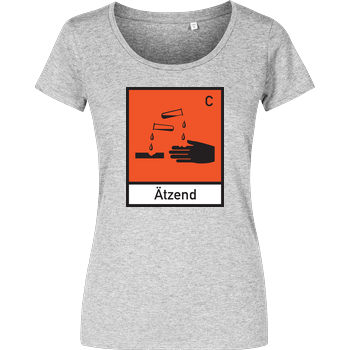 Ätzend Girlshirt heather grey