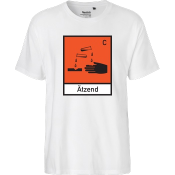 None Ätzend T-Shirt Fairtrade T-Shirt - white