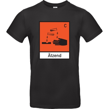 None Ätzend T-Shirt B&C EXACT 190 - Black