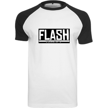 FlashtuneLPs FlashtuneLPs - Flash T-Shirt Raglan-Shirt weiß