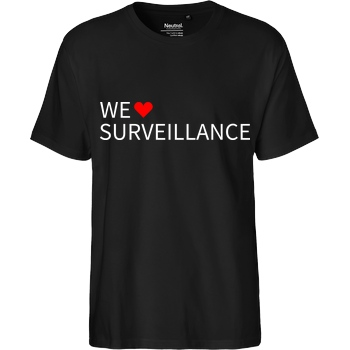 Alexander Lehmann Alexander Lehmann - We Love Surveillance T-Shirt Fairtrade T-Shirt