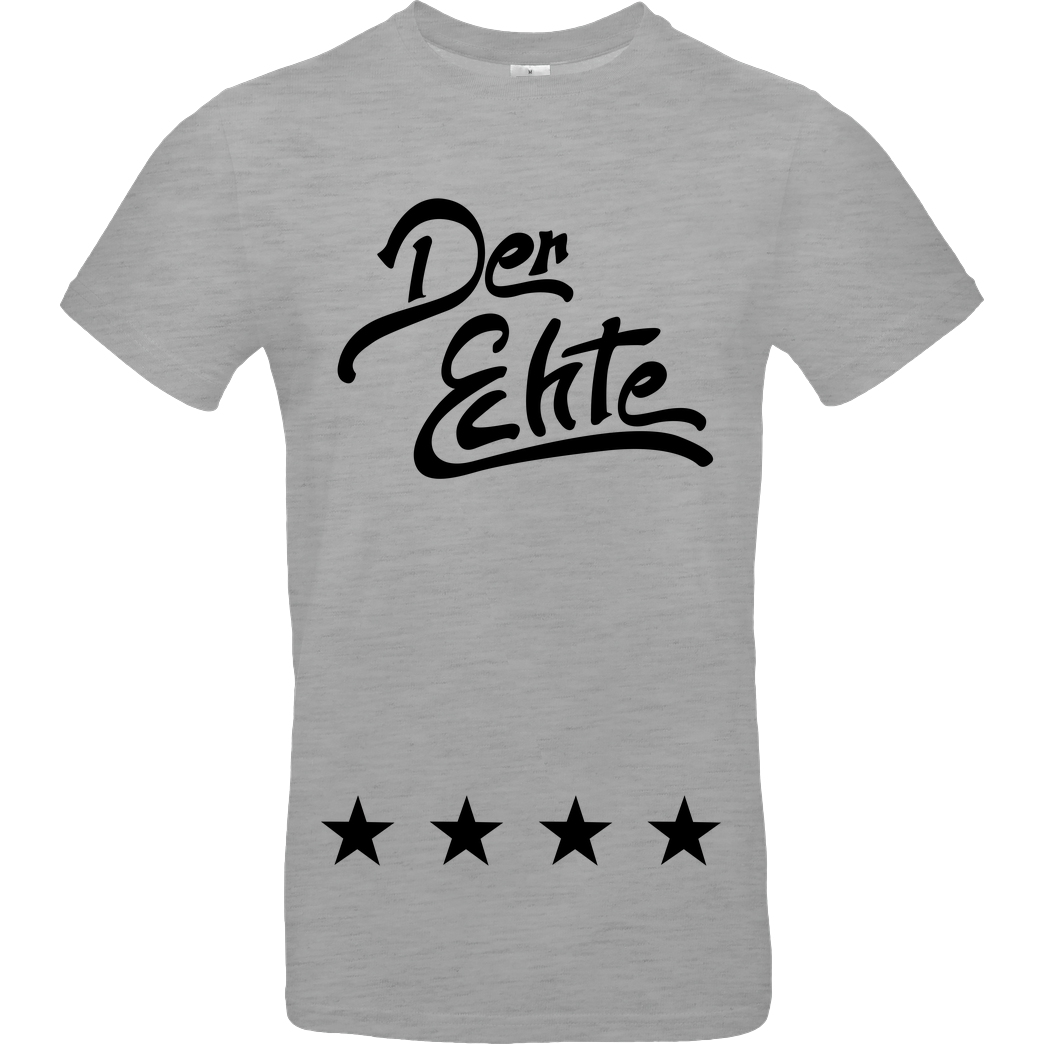 ApoRed ApoRed - Der Echte schwarz T-Shirt B&C EXACT 190 - heather grey