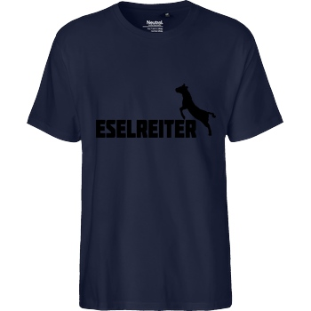 Kunga Kunga - Eselreiter T-Shirt Fairtrade T-Shirt - navy
