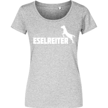 Kunga Kunga - Eselreiter T-Shirt Girlshirt heather grey