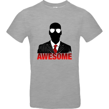 iHausparty iHausparty - Awesome T-Shirt B&C EXACT 190 - heather grey