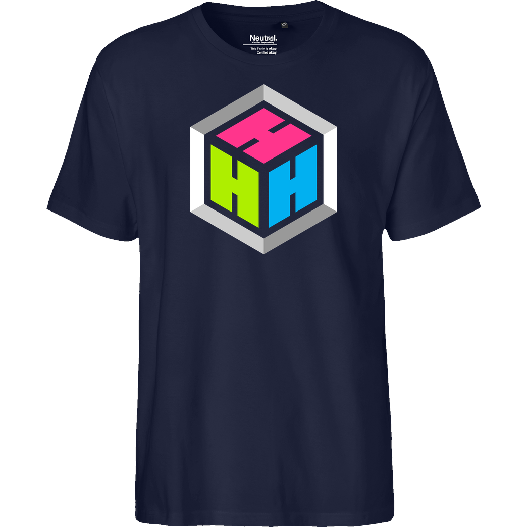 der_hacki Der Hacki - Logo T-Shirt Fairtrade T-Shirt - navy