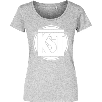 KsTBeats KsTBeats - Simple Logo T-Shirt Damenshirt heather grey