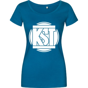 KsTBeats KsTBeats - Simple Logo T-Shirt Damenshirt petrol