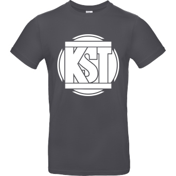 KsTBeats KsTBeats - Simple Logo T-Shirt B&C EXACT 190 - Dark Grey