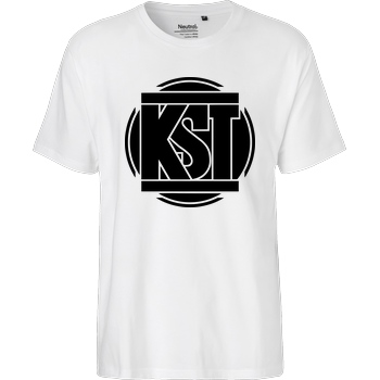 KsTBeats KsTBeats - Simple Logo T-Shirt Fairtrade T-Shirt - weiß