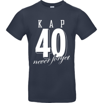 MarcelScorpion MarcelScorpion - Never forget T-Shirt B&C EXACT 190 - Navy