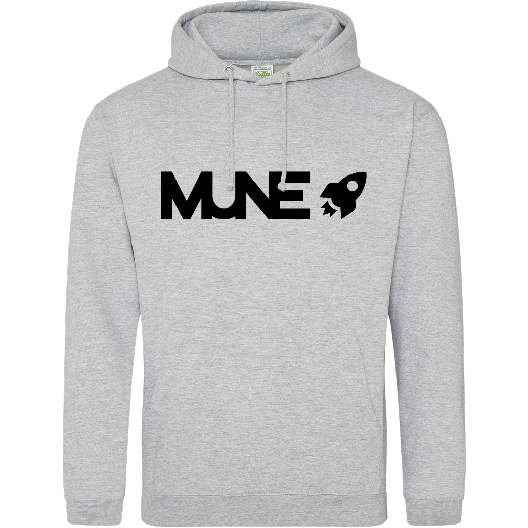 IamHaRa Mune Logo Sweatshirt JH Hoodie - Heather Grey