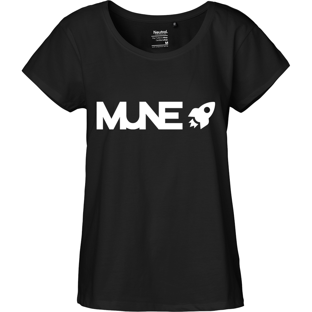 IamHaRa Mune Logo T-Shirt Fairtrade Loose Fit Girlie