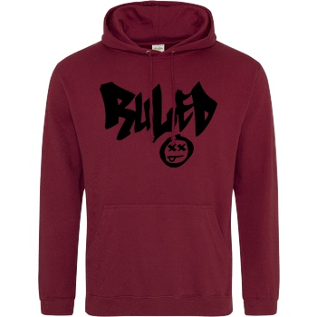 hallodri hallodri - Ruled Sweatshirt JH Hoodie - Bordeaux