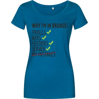 IamHaRa Why i'm bronze T-Shirt Girlshirt petrol