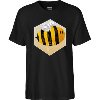 Jaybee Jaybee - Jay to the Bee T-Shirt Fairtrade T-Shirt - black