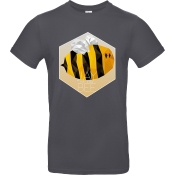 Jaybee Jaybee - Jay to the Bee T-Shirt B&C EXACT 190 - Dark Grey