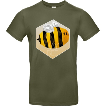 Jaybee Jaybee - Jay to the Bee T-Shirt B&C EXACT 190 - Khaki