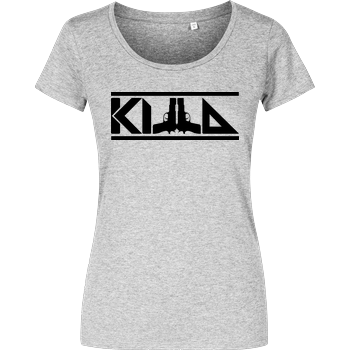 KillaPvP - Logo Damenshirt heather grey