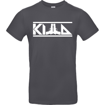 KillaPvP KillaPvP - Logo T-Shirt B&C EXACT 190 - Dark Grey