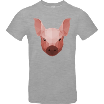 Porkchop Media Porkchop Media - Polypig T-Shirt B&C EXACT 190 - heather grey