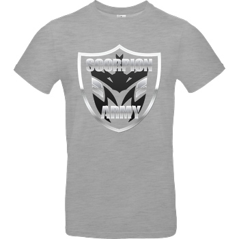 MarcelScorpion MarcelScorpion - Scorpion Army T-Shirt B&C EXACT 190 - heather grey