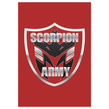 MarcelScorpion - Scorpion Army Art Print red