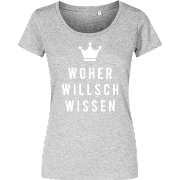 Krench Royale Krencho - Woher willsch wissen T-Shirt Damenshirt heather grey