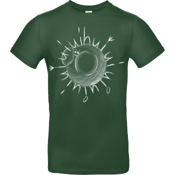 Mii Mii MiiMii - Hui Face weiß T-Shirt B&C EXACT 190 -  Bottle Green