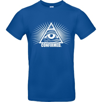 IamHaRa Illuminati Confirmed T-Shirt B&C EXACT 190 - Royal