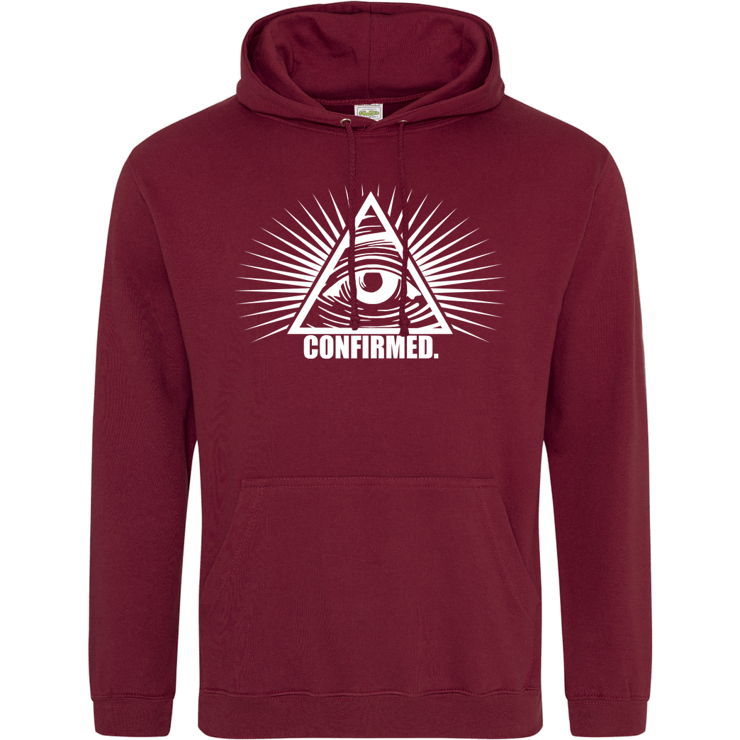 IamHaRa Illuminati Confirmed Sweatshirt JH Hoodie - Bordeaux