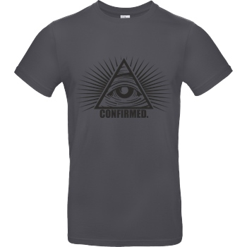 IamHaRa Illuminati Confirmed T-Shirt B&C EXACT 190 - Dark Grey