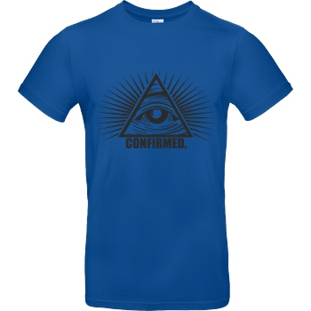 IamHaRa Illuminati Confirmed T-Shirt B&C EXACT 190 - Royal Blue