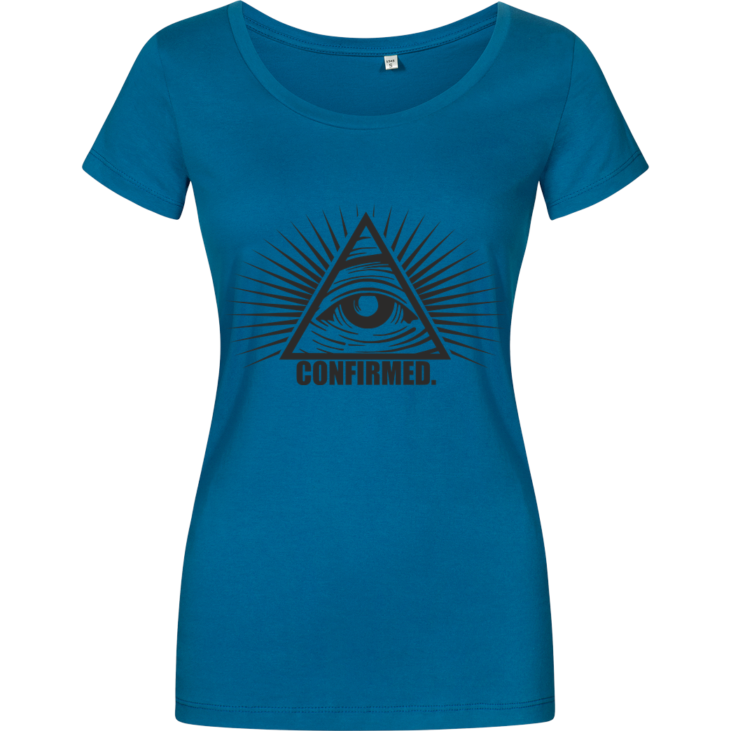 IamHaRa Illuminati Confirmed T-Shirt Girlshirt petrol