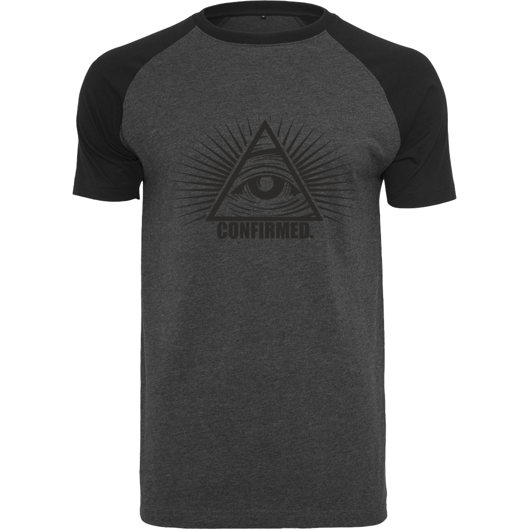 IamHaRa Illuminati Confirmed T-Shirt Raglan-Shirt dark heather grey