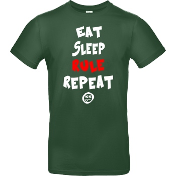 Hallodri - Eat Sleep Rule Repeat white