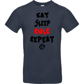 Hallodri - Eat Sleep Rule Repeat black