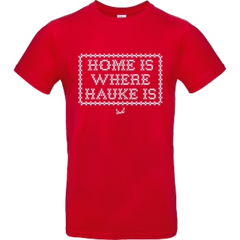 World Wide Wohnzimmer TwinTV - Home is where Hauke is T-Shirt B&C EXACT 190 - Rot