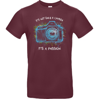 FilmenLernen.de It's not only a Camera T-Shirt B&C EXACT 190 - Bordeaux